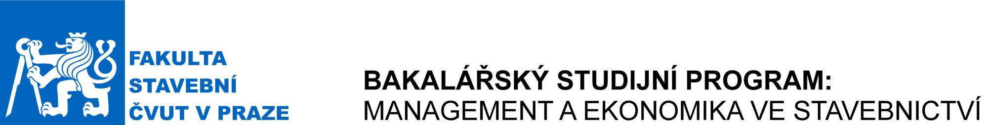 Bakalářský studijní program Management a ekonomika ve stavebnictví